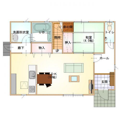 シンプルハウスデザイン01-1F
