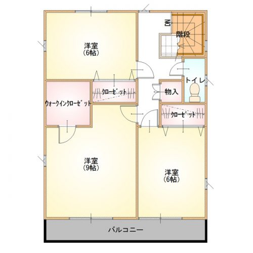 ベーシックデザインハウス01-2F間取り図