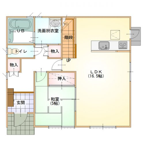 ベーシックデザインハウス02-1F間取り図