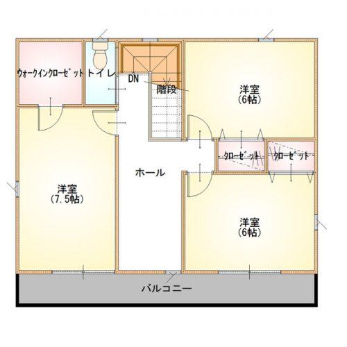 ベーシックデザインハウス02-2F間取り図