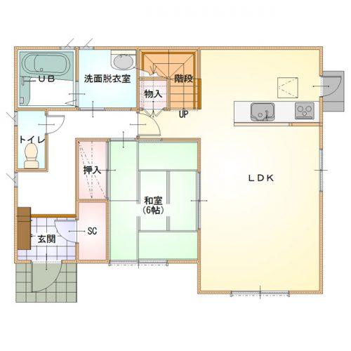 ベーシックデザインハウス03-1F間取り図