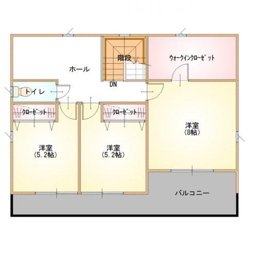 ベーシックデザインハウス03-2F間取り図