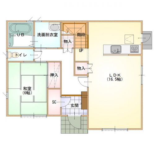 ベーシックデザインハウス04-1F間取り図