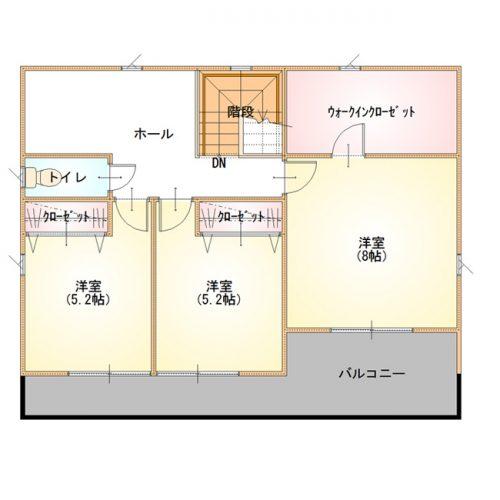 ベーシックデザインハウス04-2F間取り図