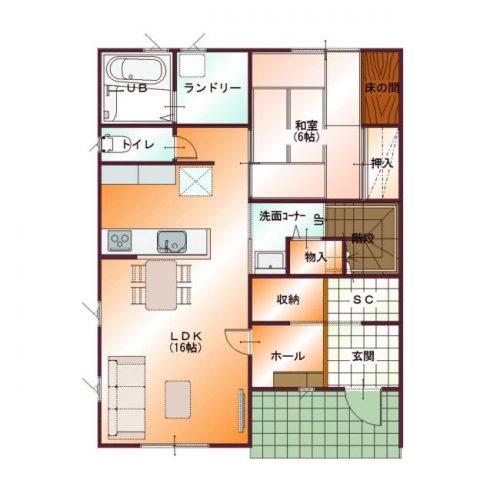 コンパクトデザインハウス03-1F間取り図