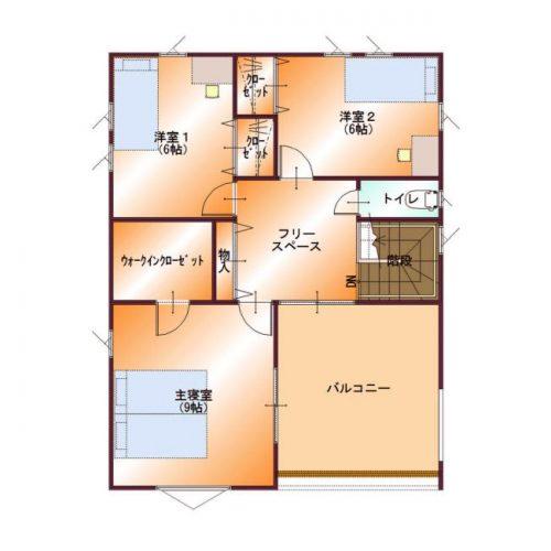 コンパクトデザインハウス03-2F間取り図