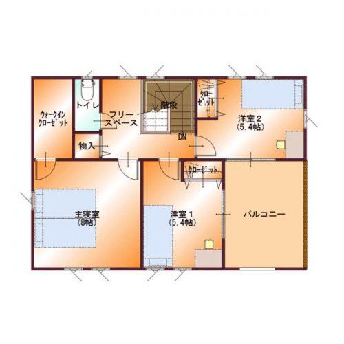 コンパクトデザインハウス05-2F間取り図