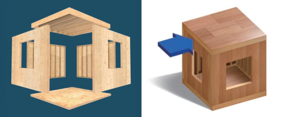 6面体で作るツーバイフォー工法