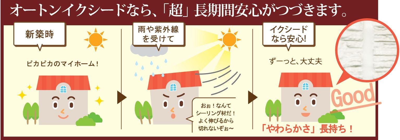 建物防水は長期安心